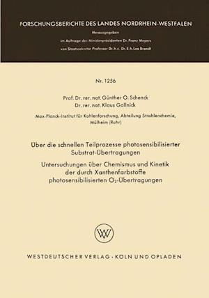 Uber Die Schnellen Teilprozesse Photosensibilisierter Substrat-Ubertragungen af Klaus Gollnick, Klaus Gollnick