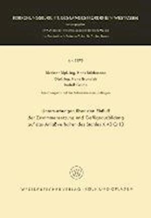 Untersuchungen Uber Den Einfluss Der Zusammensetzung Und Gefugeausbildung Auf Das Anlassverhalten Des Stahles X 40 Cr 13 af Hans Studemann, Hans Studemann