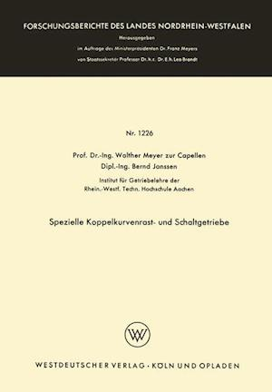 Spezielle Koppelkurvenrast- Und Schaltgetriebe af Walther Meyer Zur Capellen, Walther Meyer Zur Capellen