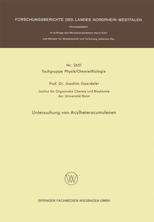 Untersuchung von Acylheterocumulenen af Joachim Goerdeler