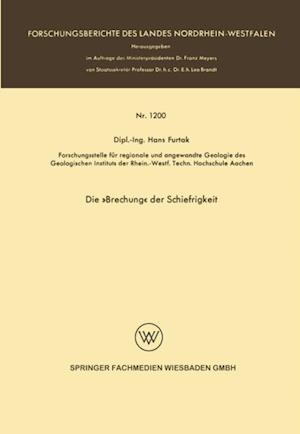 Die Brechung der Schiefrigkeit af Hans Furtak