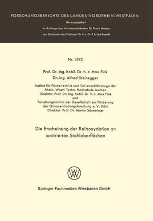 Die Erscheinung der Reiboxydation an ionitrierten Stahloberflachen af Max Fink
