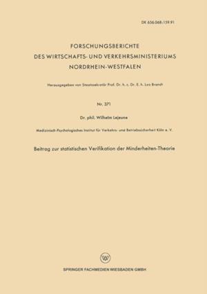 Beitrag zur statistischen Verifikation der Minderheiten-Theorie af Wilhelm Lejeune