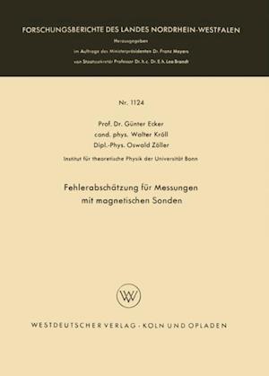 Fehlerabschatzung fur Messungen mit magnetischen Sonden af Gunter Ecker