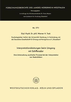Interpretationsleistungen beim Umgang mit Schiffsradar af Werner H. Tack