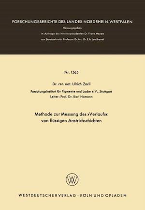 Methode zur Messung des Verlaufs von flussigen Anstrichschichten af Ulrich Zorll