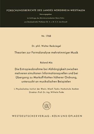Theorien zur Formalanalyse mehrstimmiger Musik af Walter Reckziegel