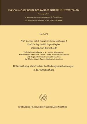 Untersuchung elektrischer Aufladungserscheinungen in der Atmosphare af Hans Fritz Schwenkhagen