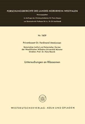 Untersuchungen an Ribosomen af Ferdinand Amelunxen