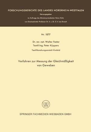 Verfahren zur Messung der Gleichmaigkeit von Geweben af Walter Fester