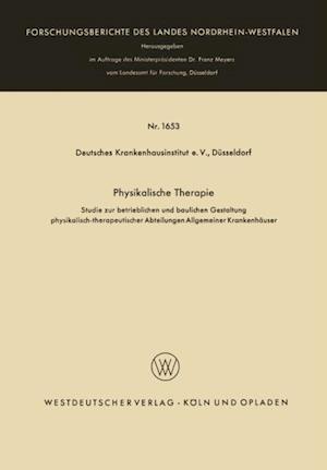 Physikalische Therapie af Deutsches Krankenhausinstitut