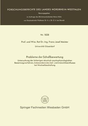 Probleme der Schallbewertung af Franz Josef Meister