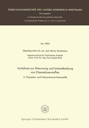 Verfahren zur Erkennung und Unterscheidung von Chemiefaserstoffen af Maria Stratmann