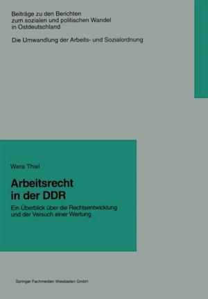 Arbeitsrecht in der DDR