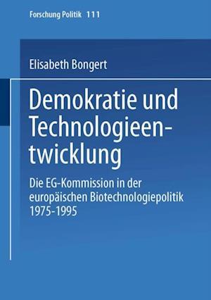 Demokratie und Technologieentwicklung af Elisabeth Dr. Bongert