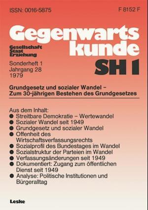Grundgesetz und sozialer Wandel - zum 30. Jahrestag der Verfassung der Bundesrepublik Deutschland