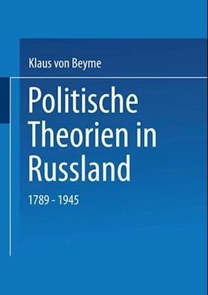 Politische Theorien in Russland af Klaus Von Beyme
