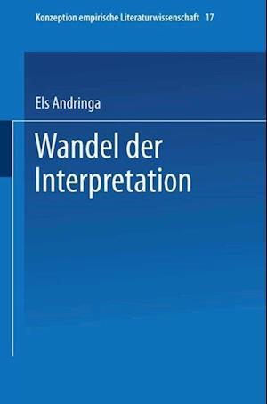 Wandel der Interpretation af Els Andringa