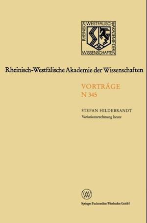 Variationsrechnung heute af Stefan Hildebrandt