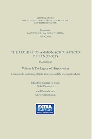 Archive of Ammon Scholasticus of Panopolis