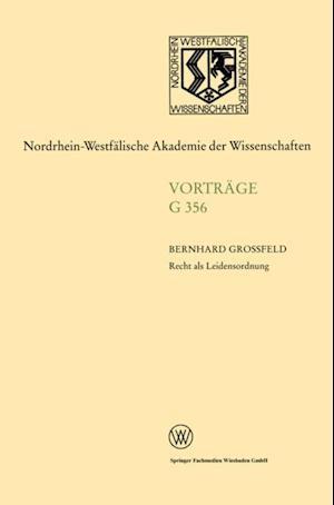 Recht als Leidensordnung af Bernhard Grofeld