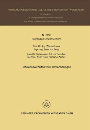 Reflexionsverhalten von Fahrbahnbelagen af Werner Leins