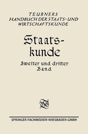 Staats-Kunde af Erwin Geldmacher
