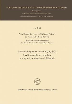 Untersuchungen Im System Al2o3-Sio2 af Wolfgang Kronert