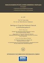 Beitrage Zur Frage Der Stockwerk-Tektonik Im Ruhrkohlengebiet IV af Franz Lotze