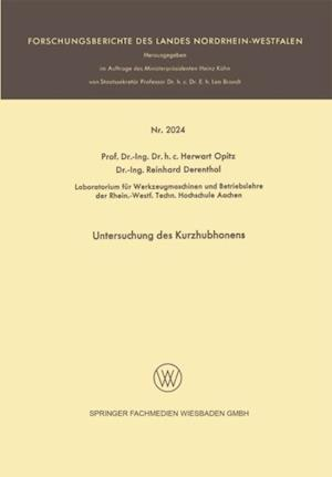 Untersuchung des Kurzhubhonens af Herwart Opitz, Reinhard Derentbal