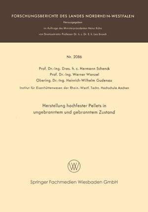 Herstellung hochfester Pellets in ungebranntem und gebranntem Zustand af Werner Wenzel, Hermann Rudolf Schenck, Heinrich-Wilbelm Gudenau