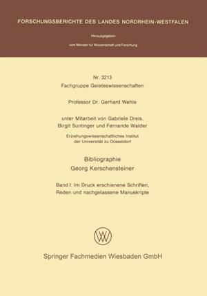 Bibliographie Georg Kerschensteiner af Gabriele Dreis