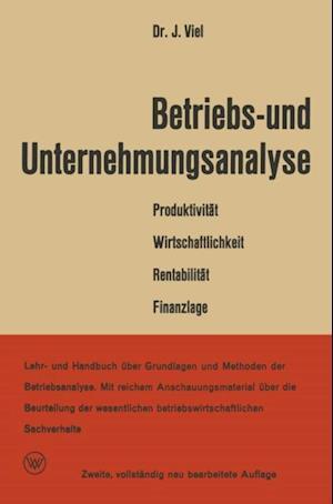 Betriebs- und Unternehmungsanalyse af Dr. rer. pol. Jakob Viel