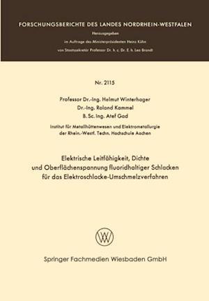 Elektrische Leitfahigkeit, Dichte und Oberflachenspannung fluoridhaltiger Schlakken fur das Elektroschlacke-Umschmelzverfahren af Helmut Winterhager