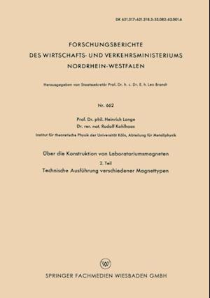 Uber die Konstruktion von Laboratoriumsmagneten af H. Lange, P. St. Putter