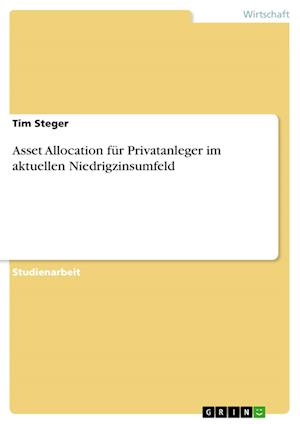 Bog, paperback Asset Allocation Fur Privatanleger Im Aktuellen Niedrigzinsumfeld af Tim Steger