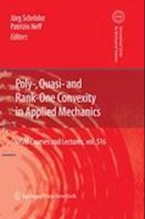 Poly-, Quasi- and Rank-One Convexity in Applied Mechanics af Jorg Schroder