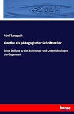 Goethe ALS Padagogischer Schriftsteller