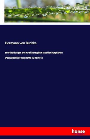 Bog, paperback Entscheidungen Des Grossherzoglich Mecklenburgischen Oberappellationsgerichts Zu Rostock af Hermann Von Buchka