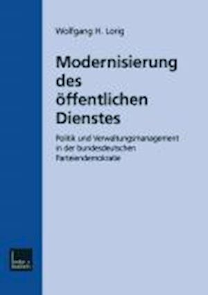 Modernisierung Des Offentlichen Dienstes af Wolfgang H. Lorig, Wolfgang H. Lorig