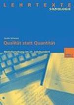 Qualitat Statt Quantitat af Guido Schwarz