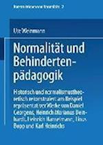 Normalitat Und Behindertenpadagogik af Ute Weinmann, Ute Weinmann