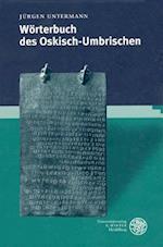 Worterbuch Des Oskisch-Umbrischen af Jurgen Untermann