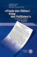 Friede Den Hutten! Krieg Den Pallasten! (Beihefte Zum Euphorion, nr. 87)