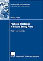 Portfolio Strategies of Private Equity Firms af Dietmar Harhoff
