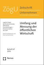 Umfang Und Messung Der Offentlichen Wirtschaft (Zogu Beihefte)