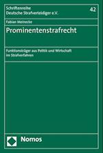 Prominentenstrafrecht (Schriftenreihe Deutsche Strafverteidiger E V, nr. 42)