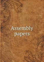 Assembly Papers af Free Church of Scotland Genera Assembly