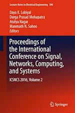 Proceedings of the International Conference on Signal, Networks, Computing, and Systems (Lecture Notes in Electrical Engineering, nr. 396)