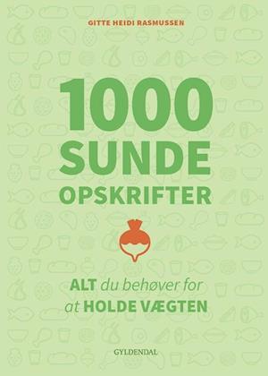 Bog, indbundet 1000 sunde opskrifter af Gitte Heidi Rasmussen